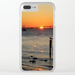 Boating Sunset-Potrait Clear iPhone Case