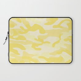 light Yellow Military Camouflage Pattern Laptop Sleeve