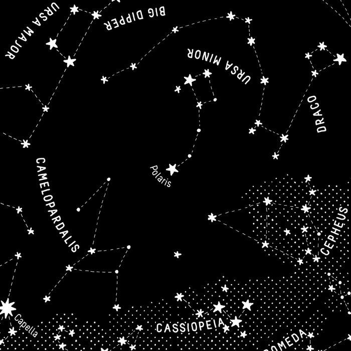 Constellation Map - Black Leggings