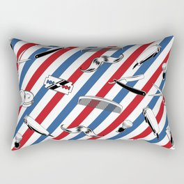 Barber Shop Pattern Rectangular Pillow