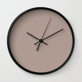 Behr Coffee With Cream - Muted Light Brown N170-4 Solid Color Wall Clock