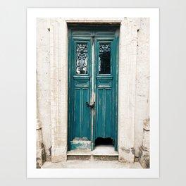 Door of abandoned vault in Recoleta cemetery, Buenos Aires Art Print