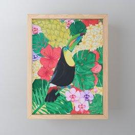 Luis the Tucan Framed Mini Art Print