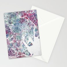 Tokyo map Stationery Cards