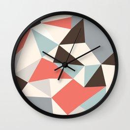 Mod Hues Tris Wall Clock