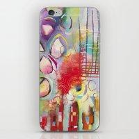 climbing iPhone & iPod Skins featuring Climbing by Belinda Fireman