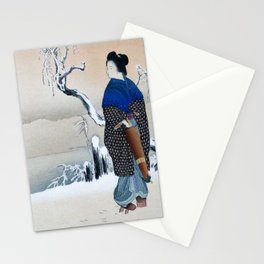 Mizuno Toshikata - Morning snow - Top Quality Image Edition Stationery Cards