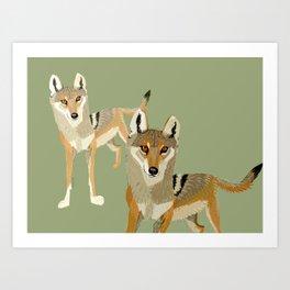 Totem Indian Wolf Art Print