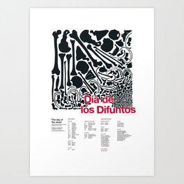 Día de los Difuntos (Day of the Dead) Art Print