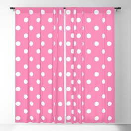 Pink & White Polka Dots Blackout Curtain