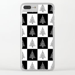 Christmas Tree Modern Clear iPhone Case