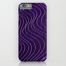 Waves Lines in Purple iPhone Case