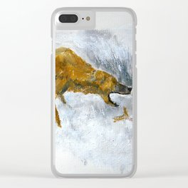 Bear Fishing Clear iPhone Case