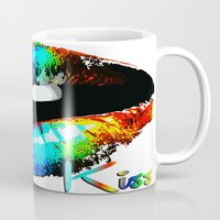 kiss Mugs featuring kiss by Vector Art