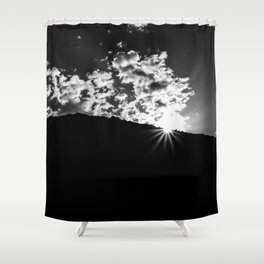 Cloud burst Shower Curtain