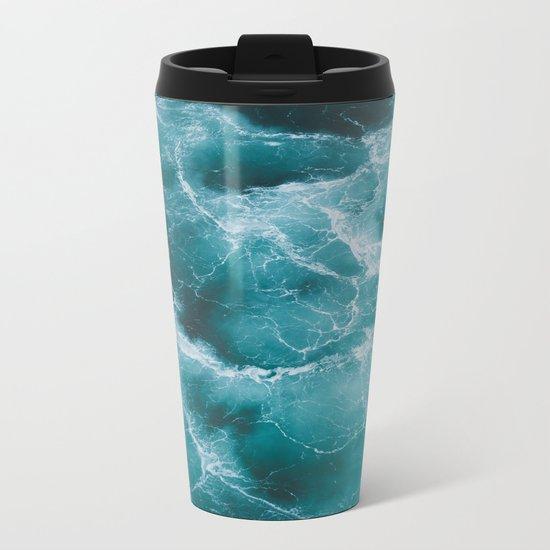 Electric Ocean Metal Travel Mug