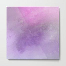 Pink Purple Watercolor Pastel Metal Print