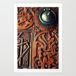 Mosque Door in Turkey Art Print