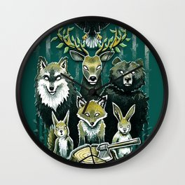 FoRest In Peace Wall Clock