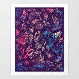 Nautical Galaxy Art Print