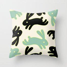 Bunny Honey Throw Pillow