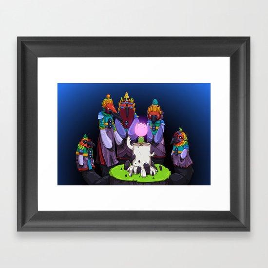 Shadow Puppets Framed Art Print