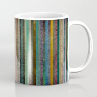 striped Mugs featuring Striped by Sharon Johnstone