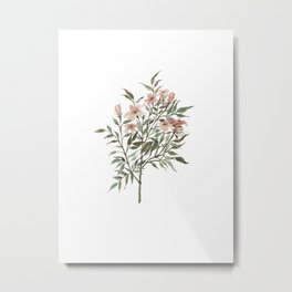 Small Floral Branch Metal Print