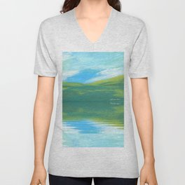 The Clearing With Reflection Unisex V-Neck