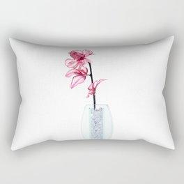 Pink Flower Rectangular Pillow