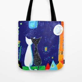 Midnight Cats Tote Bag