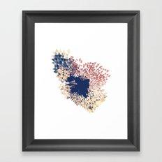 Datadoodle Splash Framed Art Print