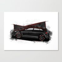 audi Canvas Prints featuring RS3 by an.artwrok