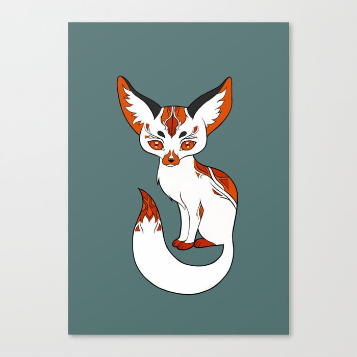 Mysterious Fox Canvas Print