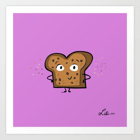Cinnamon Raisin Toast Art Print