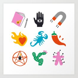 Scorpio Emoji Art Print