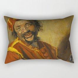 "Frans Hals ""Laughing man with crock, known as 'Peeckelhaeringh or 'Pekelharing'"" Rectangular Pillow"