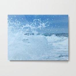 Exploding Surf Metal Print