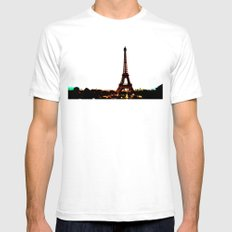 paris. SMALL White Mens Fitted Tee
