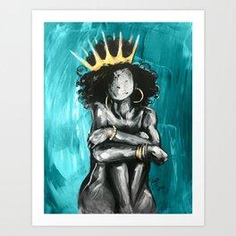 Naturally Queen IX TEAL Art Print