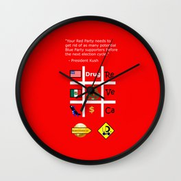 Red Party Wall Clock