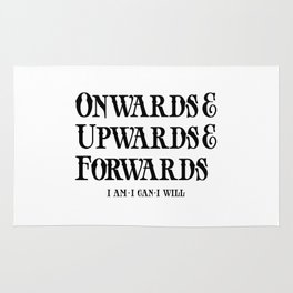 Onwards&Upwards&Forwards Rug