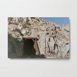 Old Train Tunnel Metal Print