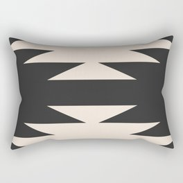 Minimal Southwestern - Charcoal Rectangular Pillow