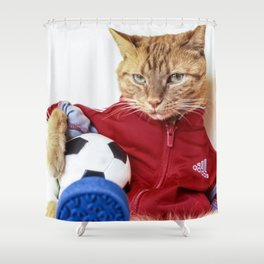 The Cat is #Adidas Shower Curtain