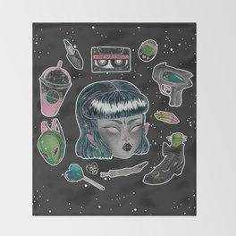 Space Oddity Throw Blanket