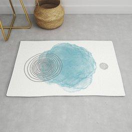 Minimal abstract blue 3 Rug