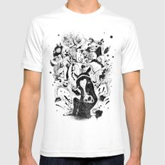 The Great Horse Race! B&W Edition White Mens Fitted Tee SMALL