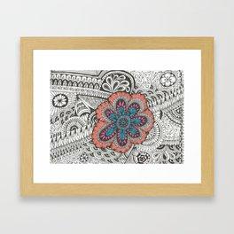 Flower-tangle Framed Art Print
