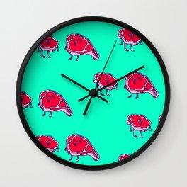 Meat meet Meat Wall Clock
